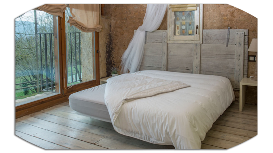 pack lavande sommier pied espace du sommeil. Black Bedroom Furniture Sets. Home Design Ideas